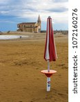 a beach of the adriatic sea in...   Shutterstock . vector #1072160276