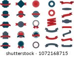 set of vintage labels  ribbons  ... | Shutterstock .eps vector #1072168715