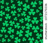 green clovers celtic decoration ... | Shutterstock .eps vector #1072170236