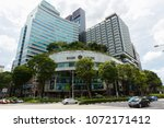 Small photo of SINGAPORE - May 14 2017: Shaw House Building at Orchard Road. Inside there is a multiplex theater, shopping center and Isetan Supermarket.