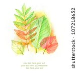 Painted Watercolor Card With...
