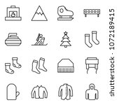 flat vector icon set  ... | Shutterstock .eps vector #1072189415