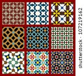 seamless patterns set in... | Shutterstock .eps vector #107219162