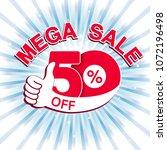 vector big sale banner. mega... | Shutterstock .eps vector #1072196498