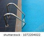 grab bars ladder in blue... | Shutterstock . vector #1072204022