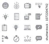 quiz icons. gray flat design.... | Shutterstock .eps vector #1072204742