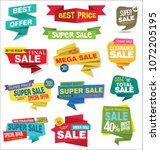 modern sale stickers and tags... | Shutterstock .eps vector #1072205195