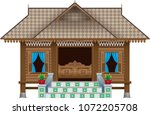 a beautiful traditional wooden... | Shutterstock .eps vector #1072205708