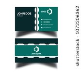 business card templete | Shutterstock .eps vector #1072206362