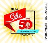 vector big sale banner. mega... | Shutterstock .eps vector #1072209818