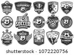 set of soccer emblems in... | Shutterstock .eps vector #1072220756