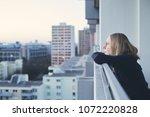 mood portrait of young blonde... | Shutterstock . vector #1072220828