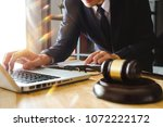 justice and law concept.male... | Shutterstock . vector #1072222172