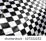 Checkered Racing Flag   High...