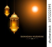 illustration of ramadan kareem... | Shutterstock .eps vector #1072222595