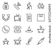 flat vector icon set   money... | Shutterstock .eps vector #1072224095