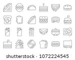 sandwich  burger and shawarma ... | Shutterstock .eps vector #1072224545