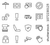 flat vector icon set   umbrella ... | Shutterstock .eps vector #1072230125