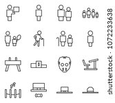 flat vector icon set   courier... | Shutterstock .eps vector #1072233638