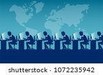vector style of labor force of... | Shutterstock .eps vector #1072235942