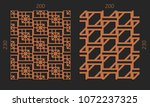 laser cutting interior set.... | Shutterstock .eps vector #1072237325