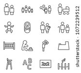 flat vector icon set   man and... | Shutterstock .eps vector #1072239512