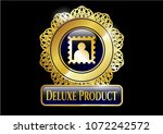 gold emblem or badge with... | Shutterstock .eps vector #1072242572