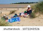 wells next the sea beach ... | Shutterstock . vector #1072243526