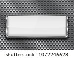rectangle white 3d button with... | Shutterstock .eps vector #1072246628