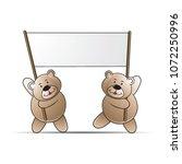 happy bear cartoon or mascot... | Shutterstock .eps vector #1072250996