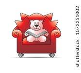 happy bear cartoon or mascot... | Shutterstock .eps vector #1072251002