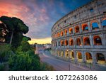 colosseum. image of famous... | Shutterstock . vector #1072263086