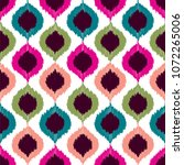 seamless vector pattern in ikat ... | Shutterstock .eps vector #1072265006