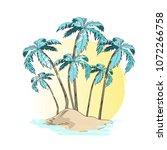 vector illustration of desert... | Shutterstock .eps vector #1072266758