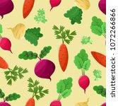 vegetables background vector...   Shutterstock .eps vector #1072266866