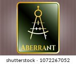 gold badge with drawing... | Shutterstock .eps vector #1072267052