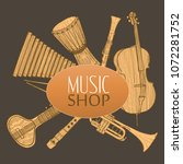 musical instruments composition.... | Shutterstock .eps vector #1072281752