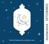 ramadan kareem vector... | Shutterstock .eps vector #1072283852