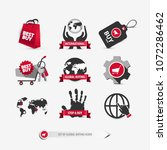 set of global buying icons...