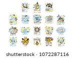 sea club  marine club set for... | Shutterstock .eps vector #1072287116