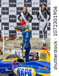 Small photo of April 15, 2018 - Long Beach, California, USA: Alexander Rossi (27) wins after dominating the Toyota Grand Prix of Long Beach race at the Streets of Long Beach in Long Beach, California.