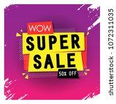 super sale banner   colorful  ... | Shutterstock .eps vector #1072311035