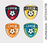 soccer logo or football club... | Shutterstock .eps vector #1072314758