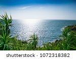 open sea from jungle beach near ...   Shutterstock . vector #1072318382