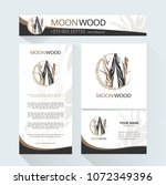 template  for the brand moon... | Shutterstock .eps vector #1072349396