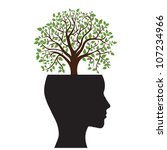 tree silhouette of a man's head ... | Shutterstock .eps vector #107234966
