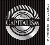 capitalism silver shiny badge | Shutterstock .eps vector #1072352528