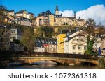 a view of the alzette river as... | Shutterstock . vector #1072361318