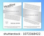 simple asymmetric line white... | Shutterstock .eps vector #1072368422