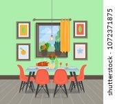 modern cozy dining room...   Shutterstock .eps vector #1072371875